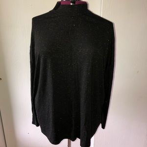 Terra & sky mock turtle lightweight sweater. 3x